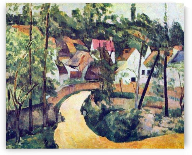 Road bend by Cezanne by Cezanne