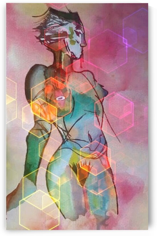 abstract woman edit 2 by Edward Johnson
