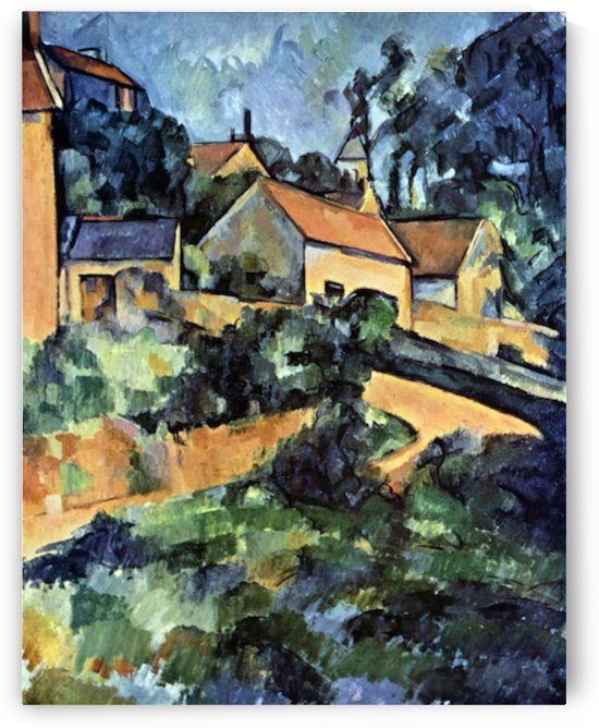 Road curve in Montgeroult by Cezanne by Cezanne