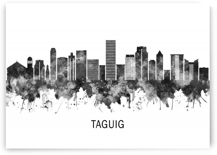 Taguig Philippines Skyline BW by Towseef Dar