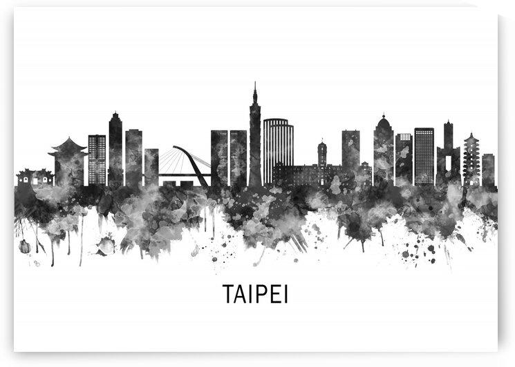 Taipei Taiwan Skyline BW by Towseef Dar