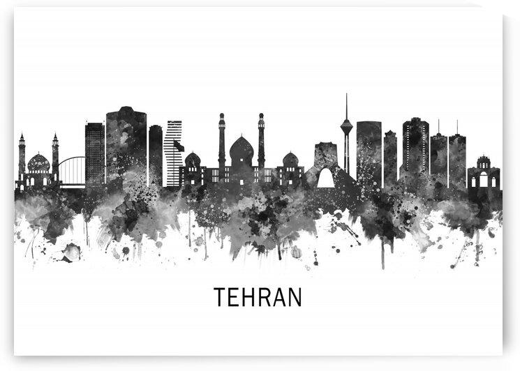 Tehran Iran Skyline BW by Towseef Dar