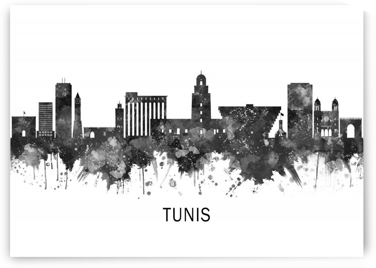 Tunis Skyline BW by Towseef Dar