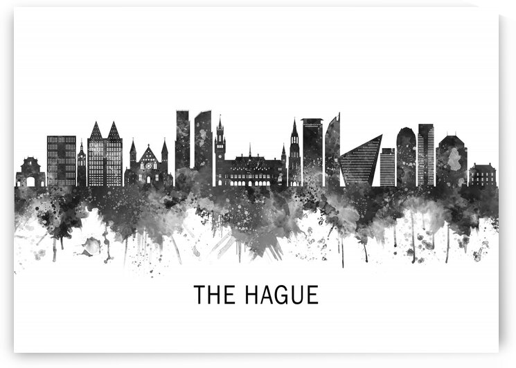 The Hague Netherlands Skyline BW by Towseef Dar