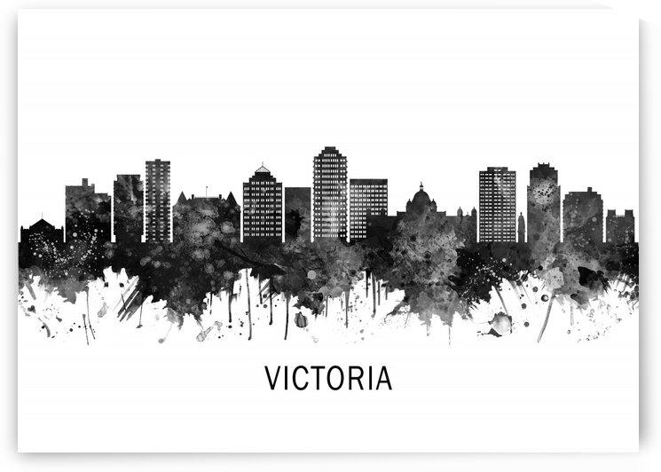 Victoria Canada Skyline BW by Towseef Dar