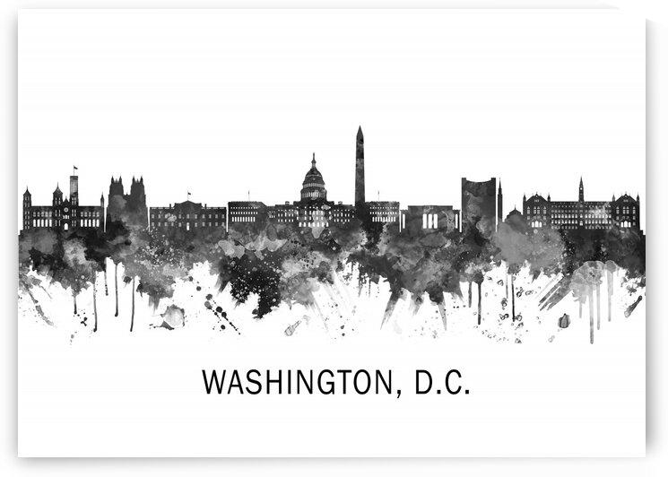 Washington D.C. USA Skyline BW by Towseef Dar