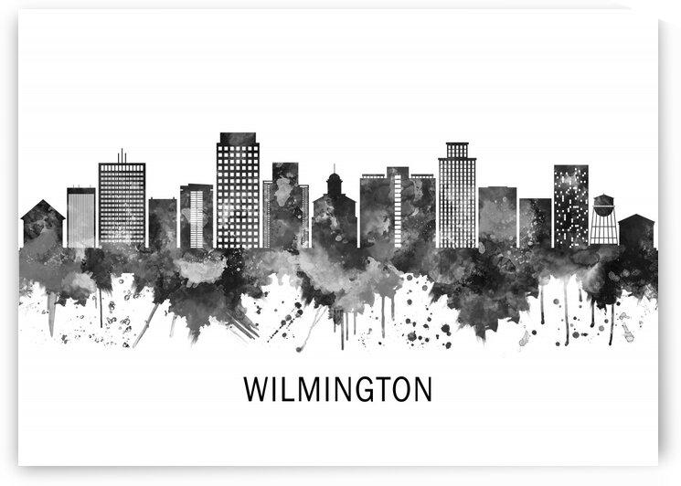 Wilmington Delaware Skyline BW by Towseef Dar