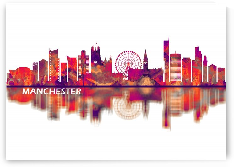 Manchester England Skyline by Towseef Dar