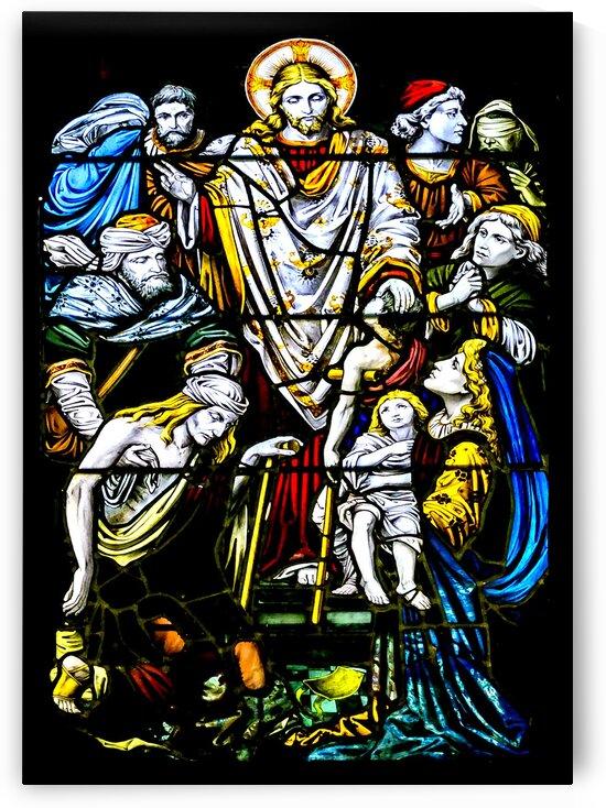Christian Window Glass Art Print by Daniel Ferreia Leites Ciccarino