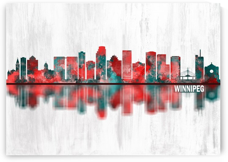 Winnipeg Manitoba Skyline by Towseef Dar