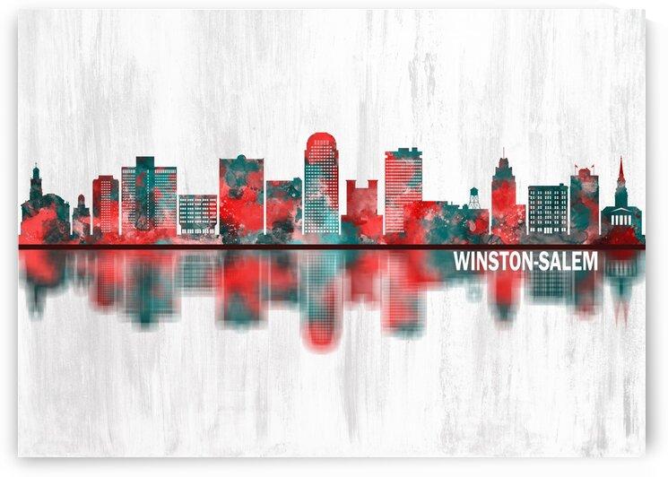 Winston-Salem North Carolina Skyline by Towseef Dar