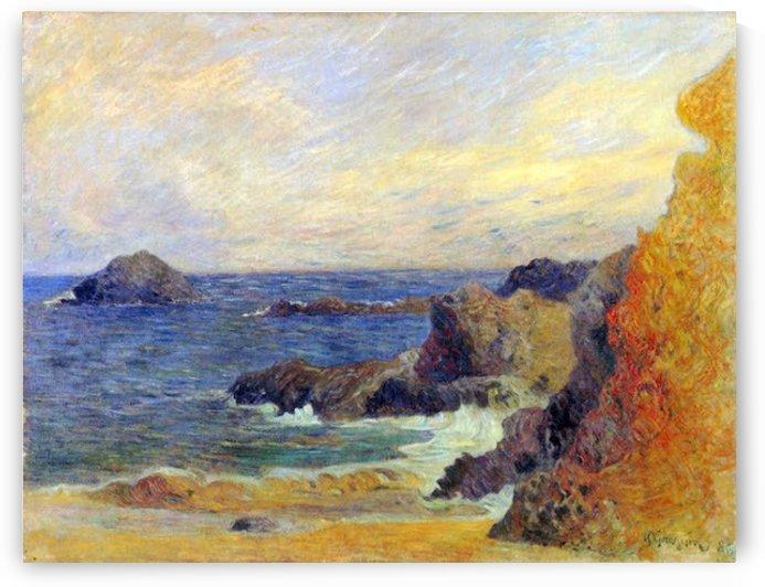 Rocky Coast by Gauguin by Gauguin