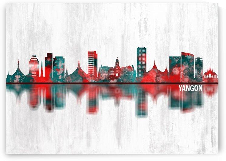 Yangon Myanmar Skyline by Towseef Dar