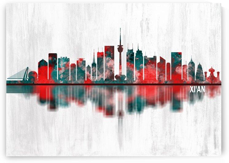 Xian China Skyline by Towseef Dar