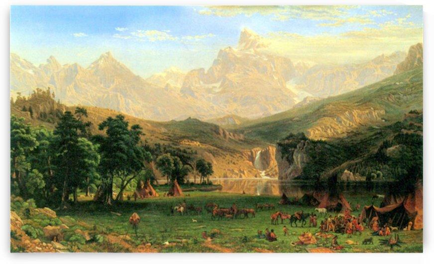 Rocky Montains at Lander s Peak by Bierstadt by Bierstadt