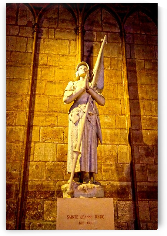 Jeanne d Arc and Saint Croix Cathedral at Orleans   France 4 of 7 by 24