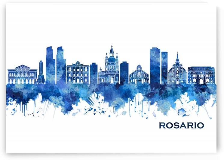 Rosario Argentina Skyline Blue by Towseef Dar
