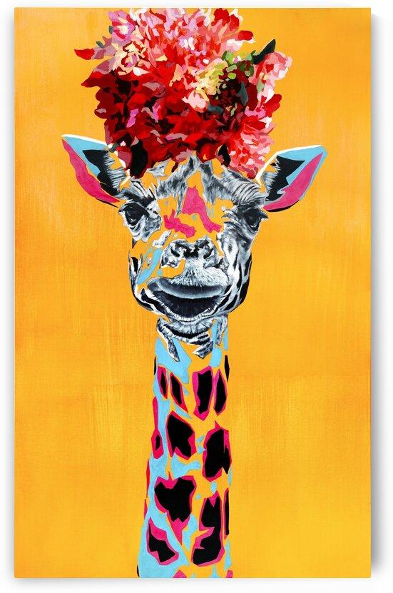 giraffe with flower crown by Tadaomi Kawasaki