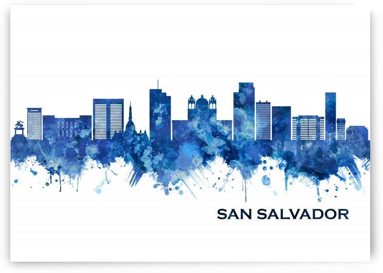 San Salvador El Salvador Skyline Blue by Towseef Dar