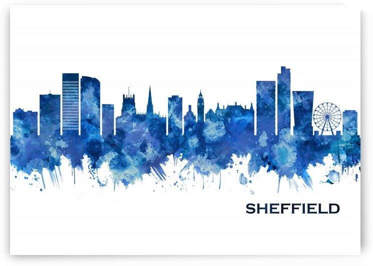 Sheffield England Skyline Blue by Towseef Dar