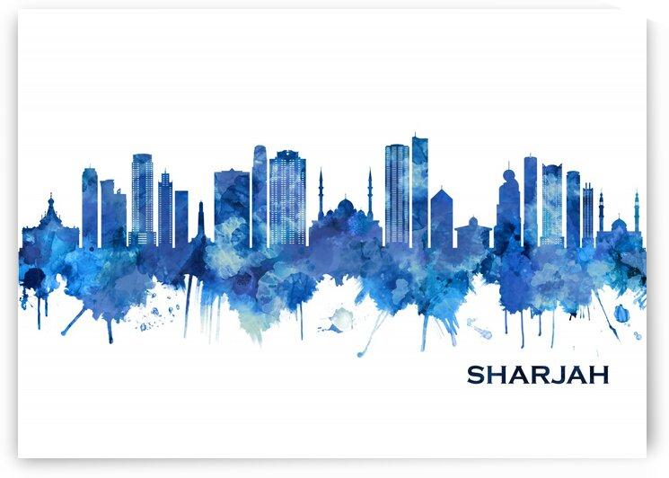 Sharjah Skyline Blue by Towseef Dar