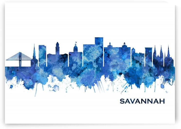 Savannah USA Skyline Blue by Towseef Dar