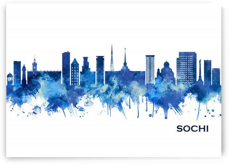 Sochi Russia Skyline Blue by Towseef Dar