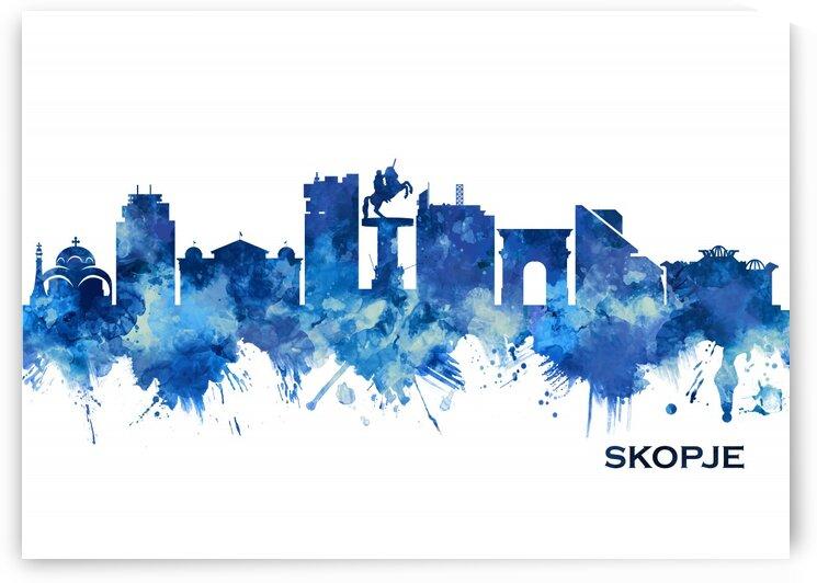Skopje Skyline Blue by Towseef Dar