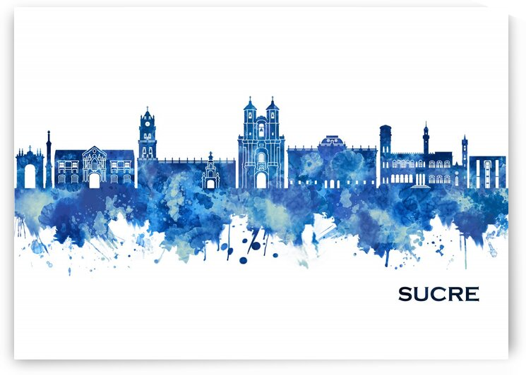 Sucre Bolivia Skyline Blue by Towseef Dar