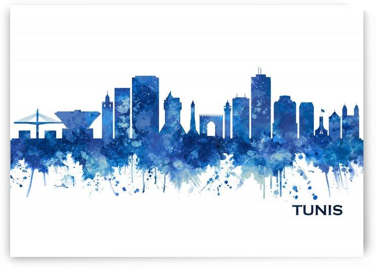 Tunis Skyline Blue by Towseef Dar