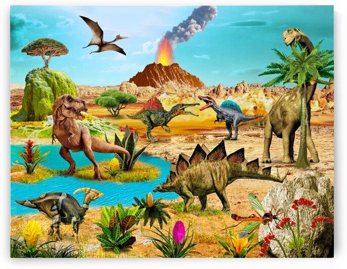 Dinosaurs Gift For Any Holiday by Radiy Bohem