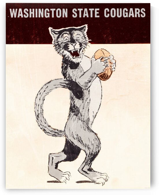 1962 Washington State Cougars Art by Row One Brand