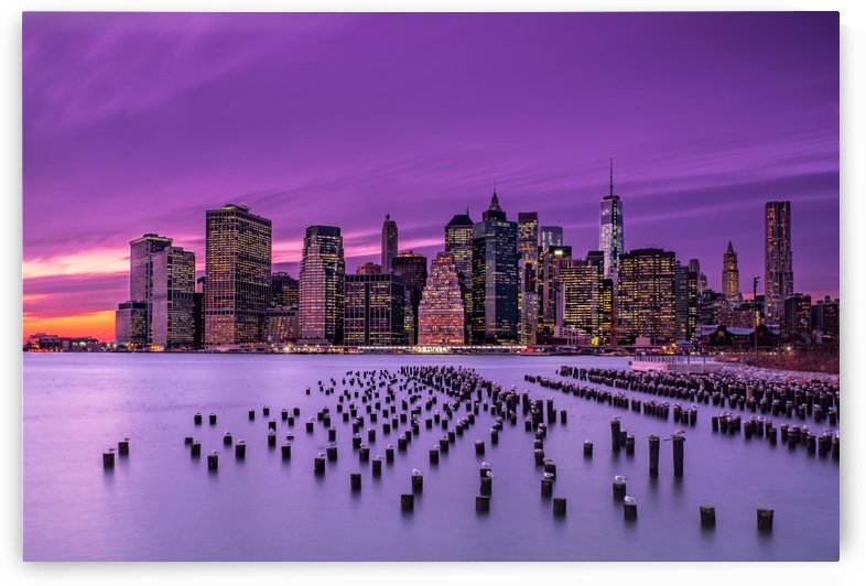 New York Violet Sunset by 1x