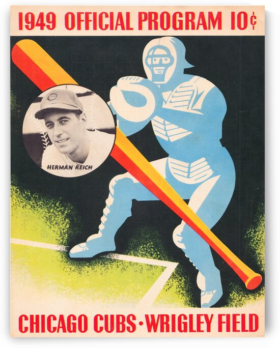 1949 Chicago Cubs Program Art by Row One Brand