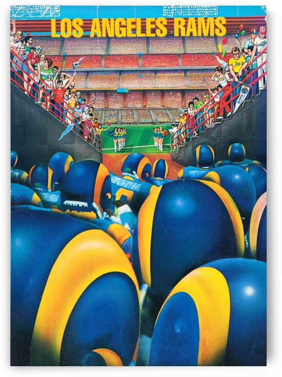 1984 Los Angeles Rams Enter The Field by Row One Brand