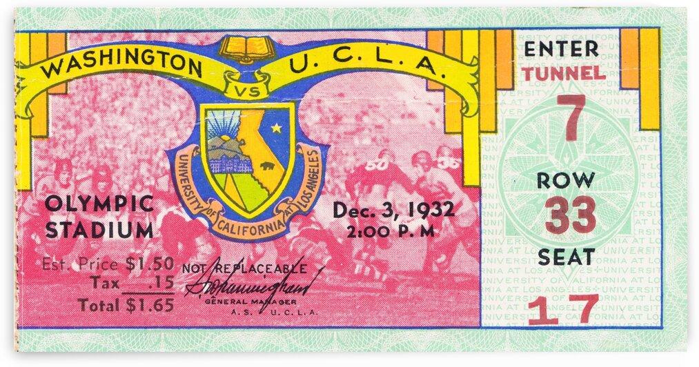 1932 Washington vs. UCLA by Row One Brand