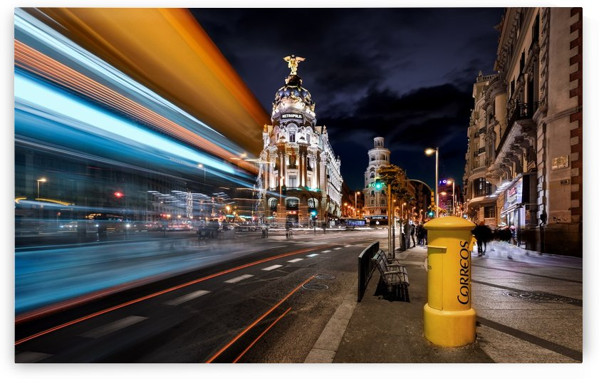 Madrid City Lights III by 1x