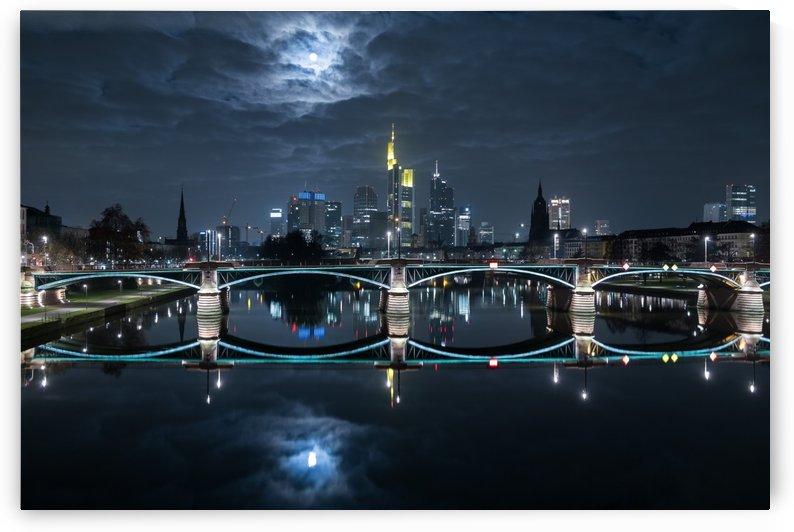 Frankfurt at Full Moon by 1x