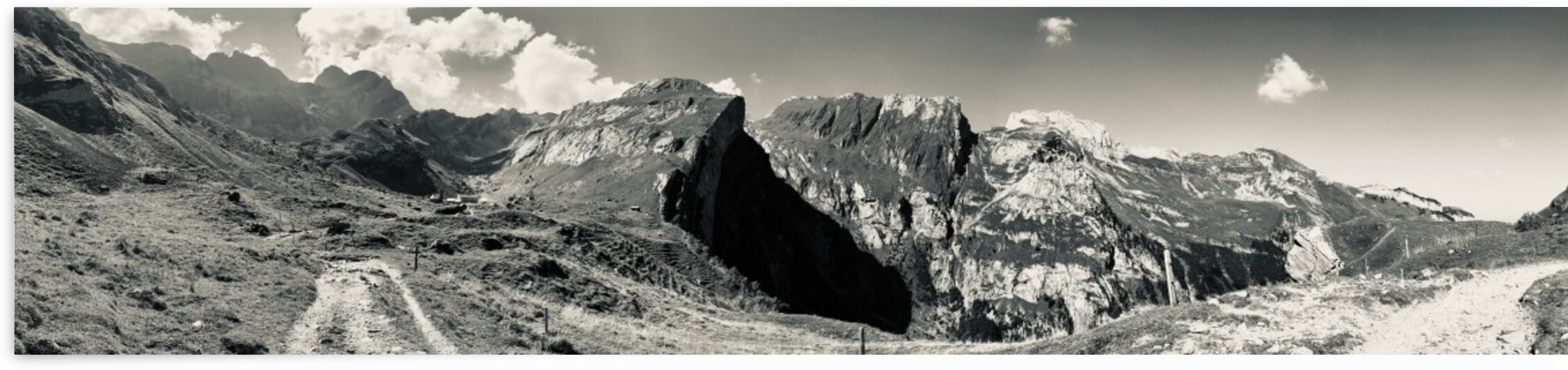 Panorama - Nice View to the Meglisalp and the Mountains Saentis is behind V by Swiss Art by Patrick Kobler