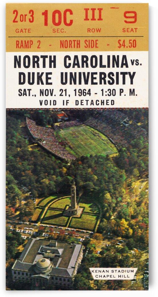 1964 North Carolina vs. Duke by Row One Brand