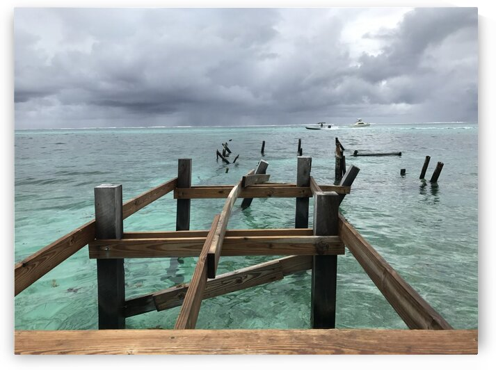 Ambergris Caye old pier by Shell Photography
