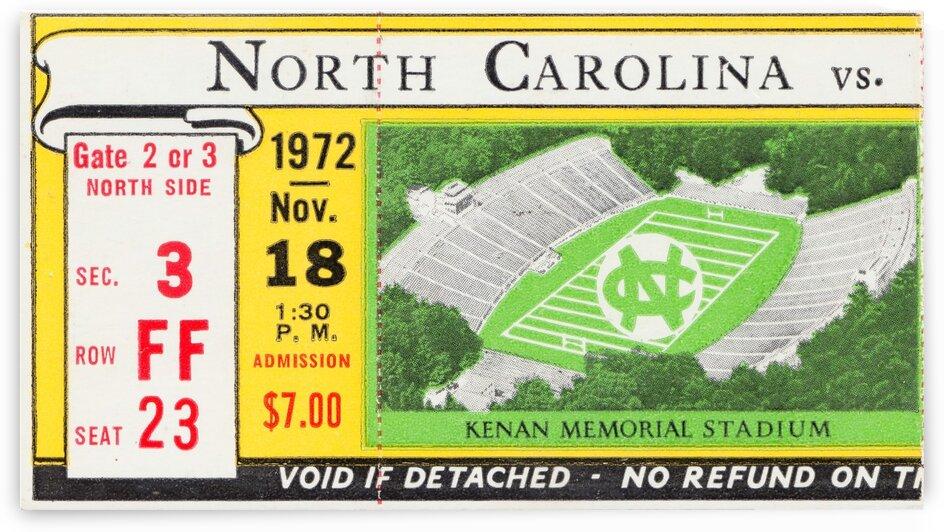 1972 North Carolina vs. Duke by Row One Brand