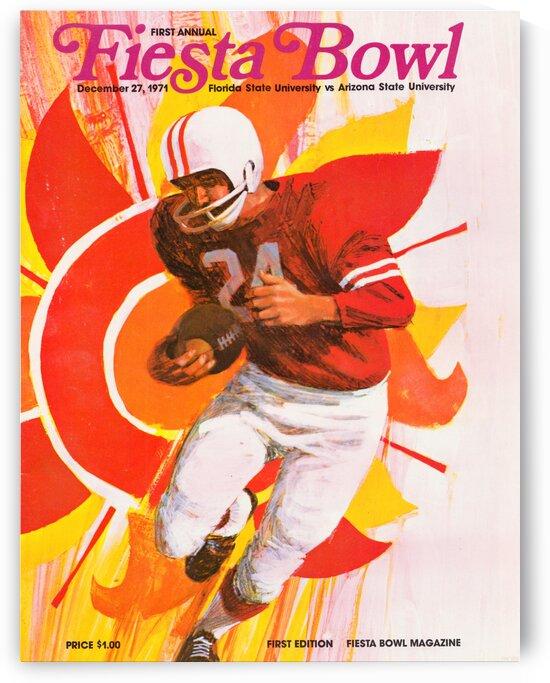 1971 First Fiesta Bowl Program by Row One Brand