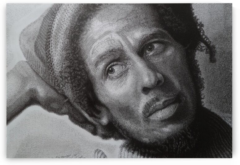 BOB MARLEY close up by Tim Glasby