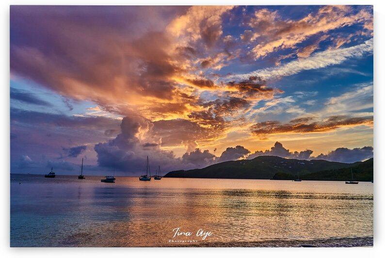 Sunset in St. Thomas by Tina Aye