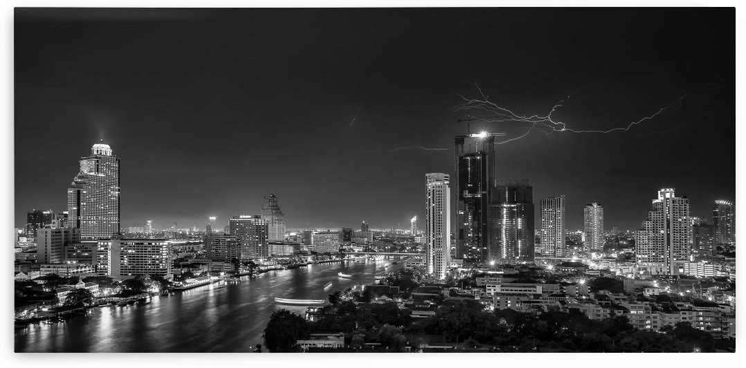 Bangkok lightning by 1x
