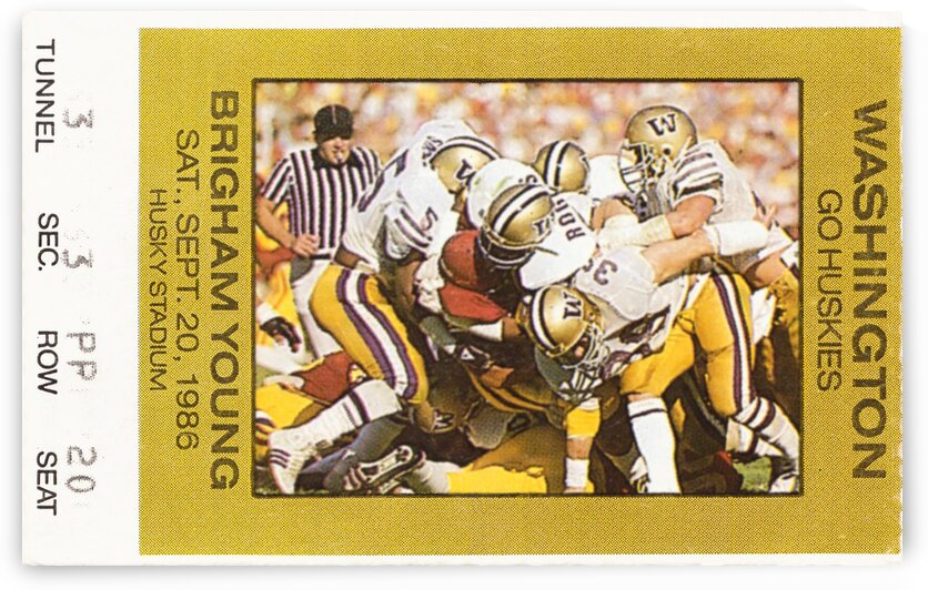 1986 Washington vs. BYU by Row One Brand