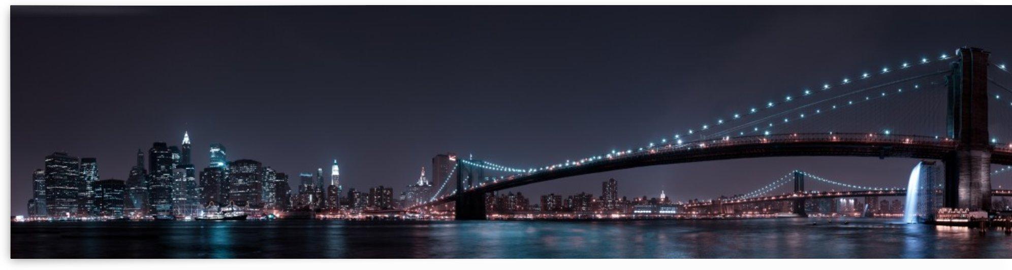 Manhattan Skyline and Brooklyn Bridge by 1x