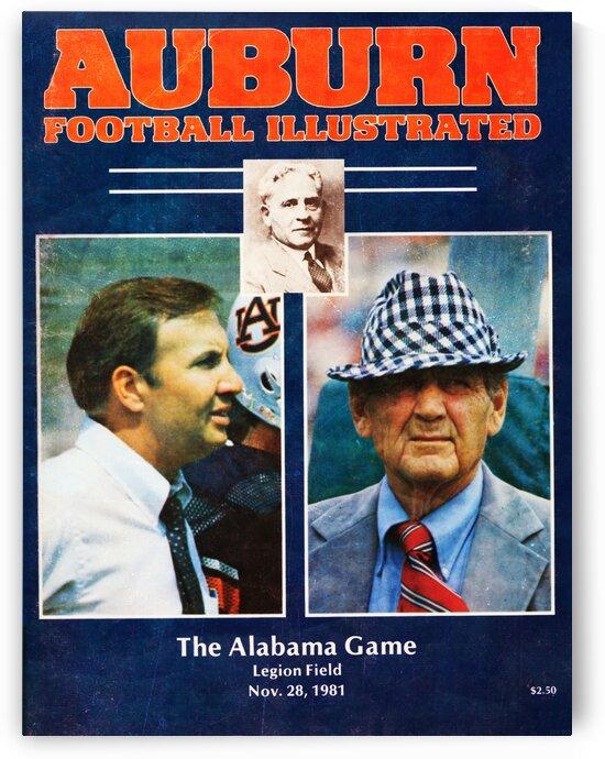 1981 Alabama vs. Auburn Program Cover by Row One Brand