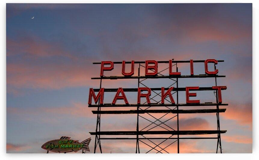 Public Market in Seattle by Darryl Brooks